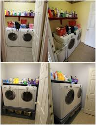 diy washer and dryer pedestal small laundry room fun family activities