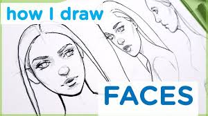 How To Draw A Female Face Art Tutorialmy Sketching Technique