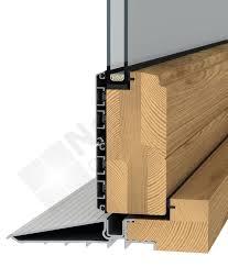 aluminium clad bi fold threshold section