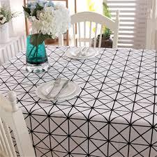 Romeya 1 Nappe De Table Noir Et Blanc Géométrique Triangles Coton