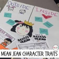 Character Traits Anchor Chart The Recess Queen Back To School Read Aloud Smitten With First
