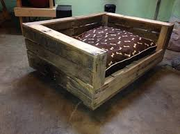 wood dog bed furniture. Reclaimed Pallet Dog Bed With Cushion Wood Furniture