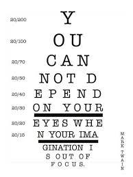 Mark Twain Eye Chart Quote Typography Design Mark