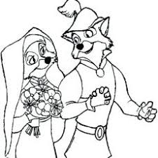 Chic Design Disney Wedding Coloring Pages Couple On Each Table
