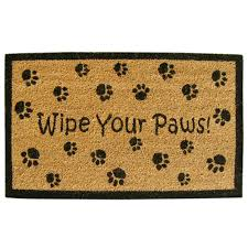 Vinyl Coco Coir Doormat - Wipe Your Paws