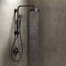 retractable shower head for bath rain hose