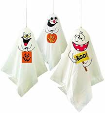 2 X <b>Ghost Halloween Hanging</b> Decorations, Pack of 3: Amazon.co ...