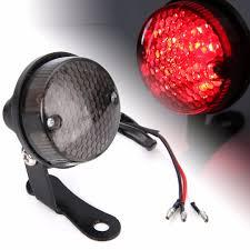 Đèn LED Đỏ Xe Máy Tròn Đa Năng Hậu Sau Phanh Biển Đèn Màu Đen Cho Xe Máy Máy  Bụi Bẩn Xe Đạp DC 12V