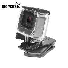 360 Derece Sırt Çantası Klip Kelepçe Dağı Için Gopro Hero 6 5 4 SJCAM Xiaomi  Yi 4 K Eken H9 Kamera Askısı Kiti Için Pro Aksesuar Www6.limitedhyper.me