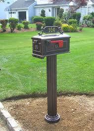 cast aluminum mailbox.  Aluminum Cast Aluminum Pedestal Mailboxes To Aluminum Mailbox N