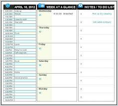 Daily Calendar Template Excel Agenda Format Employee Work Schedule ...