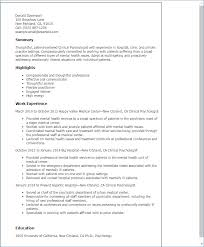 Clinical Resume Examples Igniteresumes Com