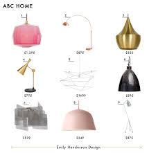 kitchen pendant track lighting fixtures copy. ABC Home Emily Henderson Design Lighting Roundup Copy Kitchen Pendant Track Fixtures