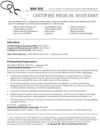 Medical Assistant Instructor Resume Resume For Medical Assistant New Administrative Assistant Resume Examples