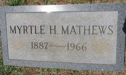 Myrtle Hambright Matthews (1887-1966) - Find A Grave Memorial