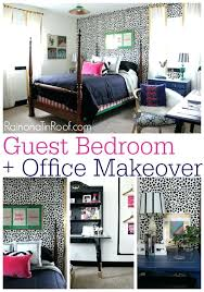 office spare bedroom ideas. Bedroom Office Guest Reveal Ideas Via Layout . Spare