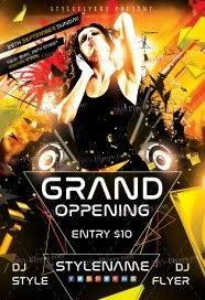 bar grand opening flyer free grand opening flyer psd templates download styleflyers