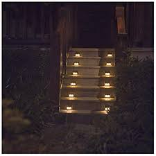 Stair led lights Sensor Automatic Image Unavailable Make Magazine Warm Light Solar Lights For Steps Decks Pathway Yard Stairs Fences