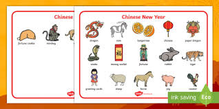 Chinese New Year Word Mat Chinese New Year Word Mat Writing Aid