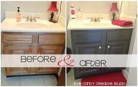 refacing bathroom cabinets before after. cabinets ideas also bathroom cabinet refacing and diy before after i