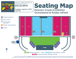 Stampede Rodeo Seating Chart Dallas Smith Encana Events Centre Dawson Creeks
