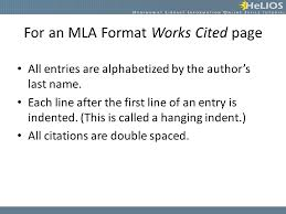 Mla Format Online Creating Citations Objective Students Will Understand How To Create