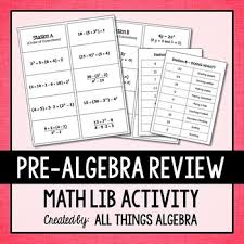 Round to the nearest hundredth. Pre Algebra Review Math Lib By All Things Algebra Tpt