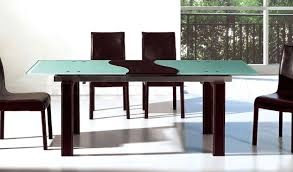 modern extendable glass dining tables for contemporary dining room decoration cool tempered with forsted outline