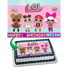 Lol Suprise Edible Image Cake Topper Personalized Birthday 14 Sheet