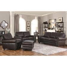 leather living room furniture sets. Delighful Sets Broderick 4piece Top Grain Leather Living Room Set Inside Furniture Sets T