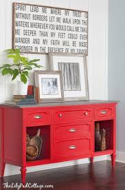 painted red furniture. red buffet table painted furniture