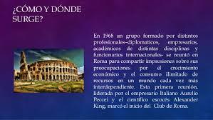 Resultado de imagen de el Club de Roma