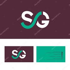 Sg Template Sg Letter Logo With Business Card Template Stock Vector