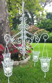 votive candle chandelier garden oasis five votive candle chandelier outdoor votive candle chandelier white hanging candle chandelier wedding or decor by