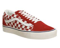 vans red and white. men shoes | vans old skool lite plus trainers (mens) seeing checker red white outlet sale and