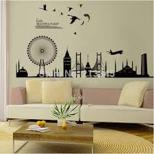diy office wall decor. [Fundecor] DIY Wall Sticker Home Decor Decals Modern City Silhouette Office Living Room Decoration Sold Black 5374-in Stickers From \u0026 Garden Diy