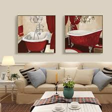 modern bath canvas painting bathroom picture washing set oil paint home decor wall art prints for on wall art prints for bathroom with modern bath canvas painting bathroom picture washing set oil paint