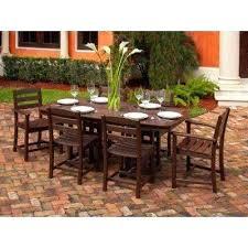 resin outdoor furniture la cafe mahogany 7 piece plastic outdoor patio dining set resin wicker outdoor resin outdoor furniture