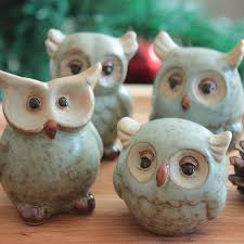 Owl Home Decor Accessories Best Green Brown Owl Ceramic Decoration Home Accessories Owl Porcelain