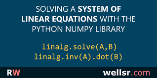 solving a system of linear equations