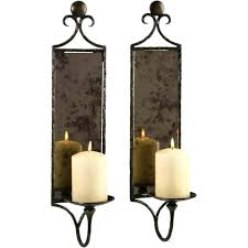 pillar candle wall sconces candle wall sconces with mirror hammered mirror wall sconce candle set of
