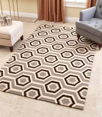 tilley grey new zealand wool rug 3 x 5