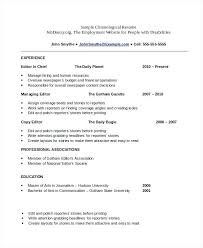 Chronological Resume Samples Examples Chronological Format Resume ...