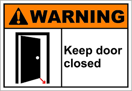 closed door clipart. Perfect Closed Doors Clipart With And Shut The Door Notih Must Be Kept T