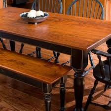 Cherry Dining Table \u0026 Matching Bench by Devin Ulery Tables | CustomMade.com