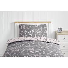 wilko pink and grey single duvet set image 1