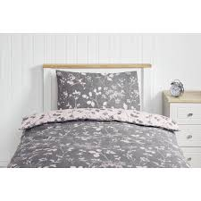 wilko pink and grey single duvet set image 1