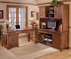 hutch office desk 5. Perfect Desk Ashley Furniture Cross Island 5 Piece LShape Office Desk Unit With Hutch U0026  File Cabinet  AHFA Dealer Locator Intended L