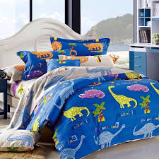 royal blue yellow purple and orange dinosaur animal print jungle safari themed damask twin full size bedding sets for kids girls boys