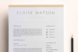 Resume 2017 Unique 60 CV Resume Cover Letter Templates For Word PDF 60